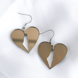 Palestine Love Earrings (Bronze)