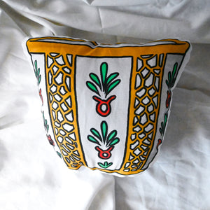 Palestinian Coffee Cup Pillow (Bright)