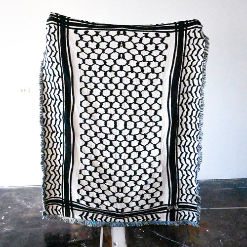 Kuffiyeh Throw Blanket (Black)