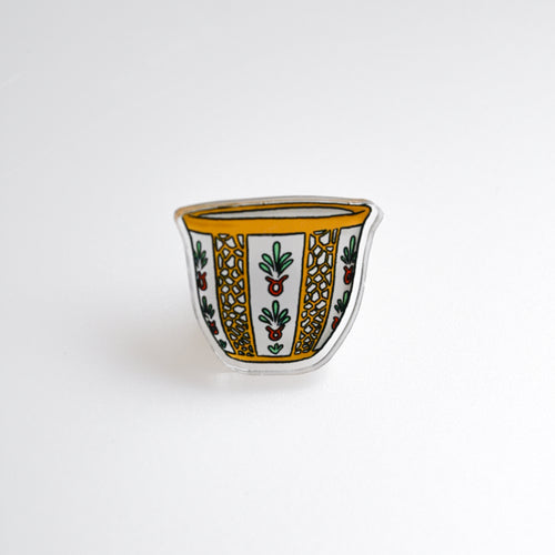 Bright Arabic Coffee Cup Pin