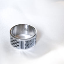 Load image into Gallery viewer, Watan Kuffiyeh Ring (Silver)
