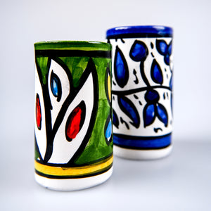 Hand-Painted Khalili Ceramic Mini Vase (Blue)