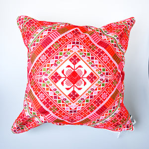 Palestinian Tatreez Crosshatch Pillow