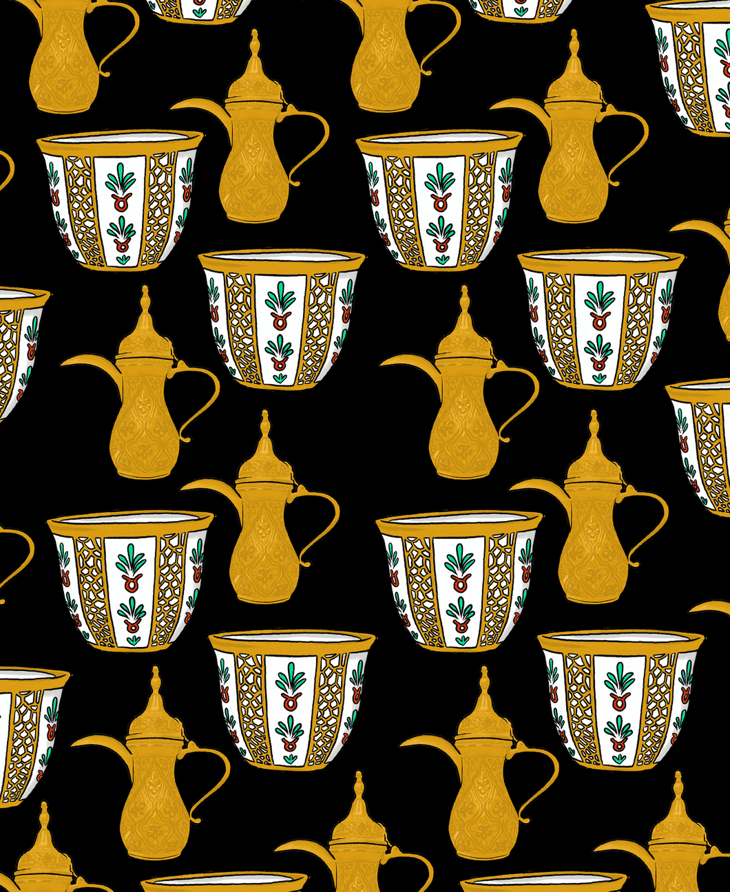 Pop 100% Arabic Coffee Print (Choose Your Color)