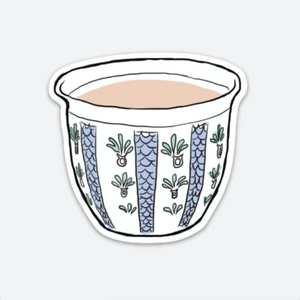Palestinian Coffee Cup Sticker