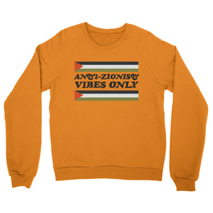 "Vintage ""Anti-Zionist Vibes Only"" Crewneck Sweatshirt (Yellow)"