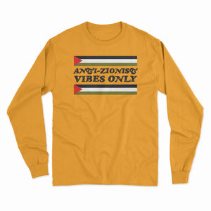 "Vintage ""Anti-Zionist Vibes Only"" Long Sleeve Shirt"