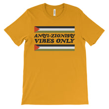 "Load image into Gallery viewer, Vintage ""Anti-Zionist Vibes Only"" Palestine T-Shirt"