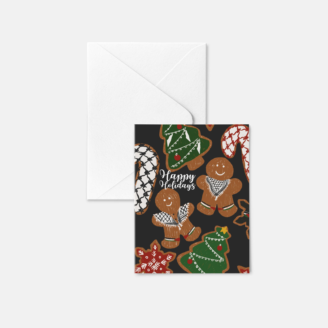 Gingerbread Kuffiyeh Holiday Card