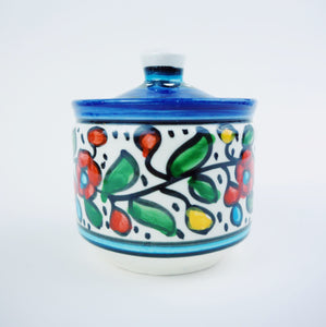 Hand-Painted Khalili Ceramic Jar (Round)