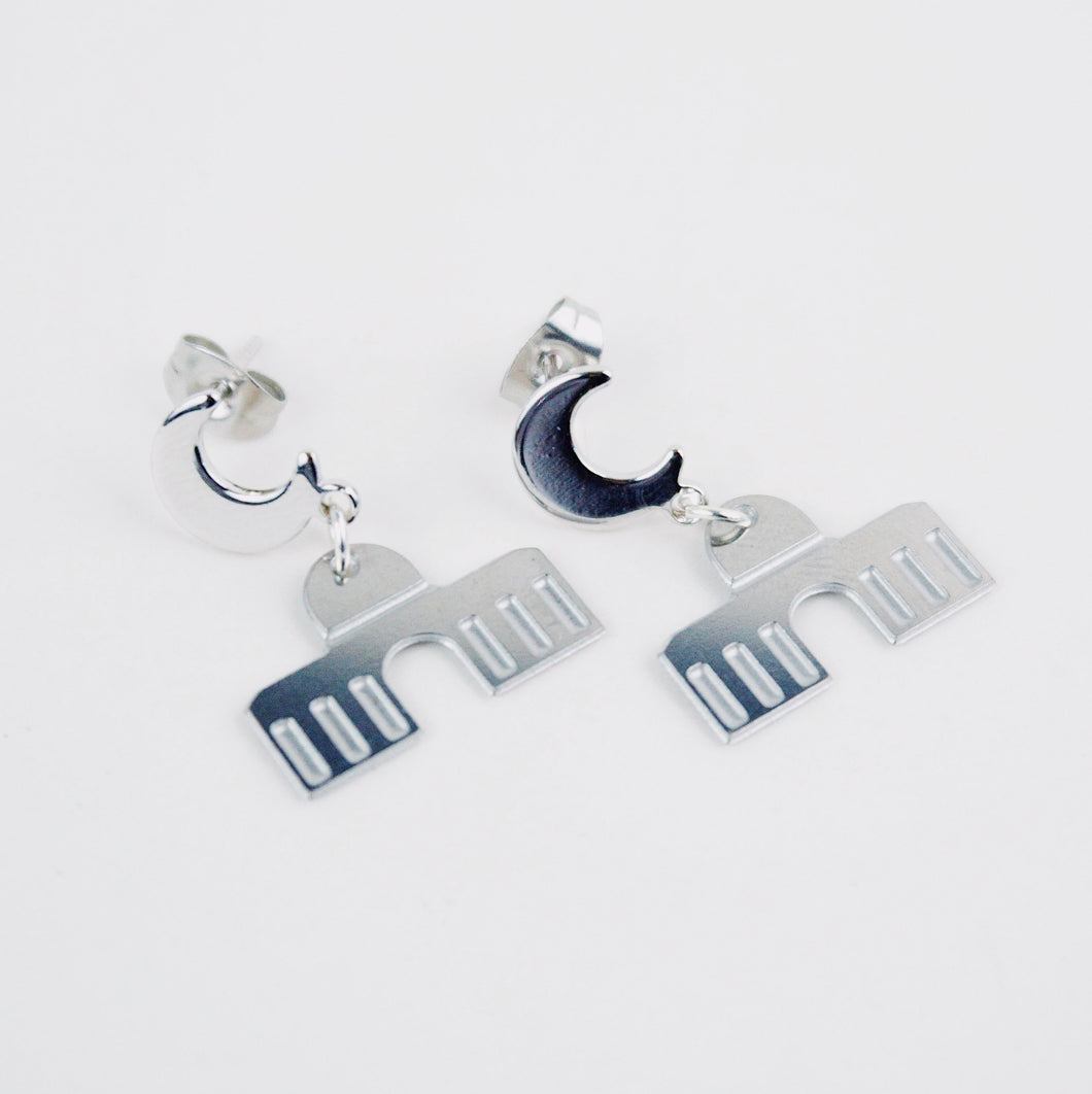 Dome of the Rock Earrings (Silver)