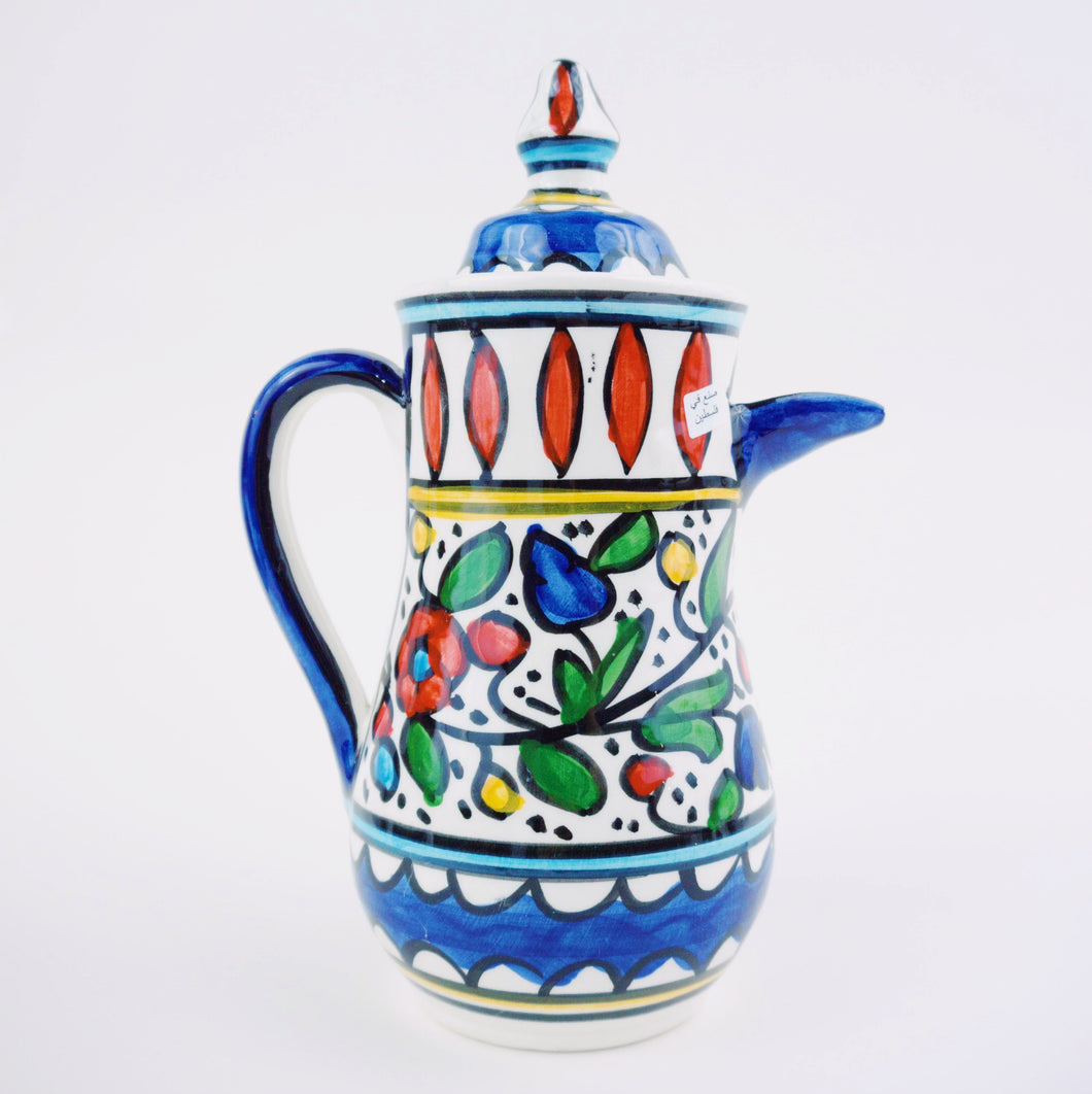 Hand-Painted Khalili Ceramic Coffee Pot