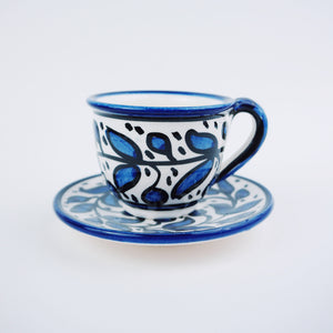 Hand-Painted Khalili Mini Coffee Mug Set