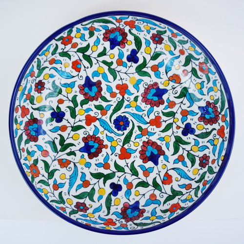 Hand-Painted Khalili Ceramic Large Serving Bowl