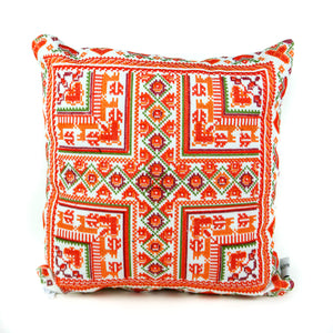 Palestinian Tatreez Hearts Pillow