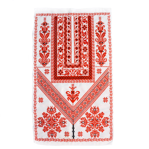 Classic Red & White Tatreez Tapestry Wall Art