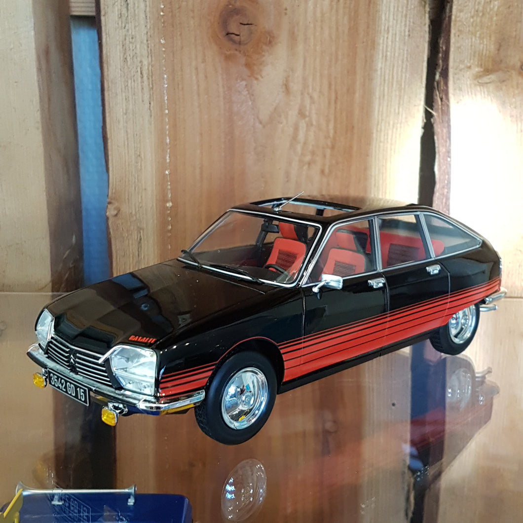 1:18 Citroen GS Basalte, Norev, sort, 1978, lukket model