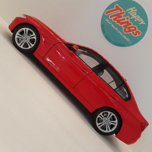 1:18 BMW 335i, rød, Welly, åben model