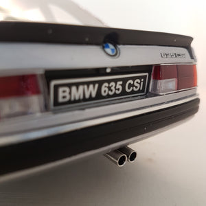 1:18 BMW 635CSI E24, Ottomobile, sølvmetal, lukket model, limited