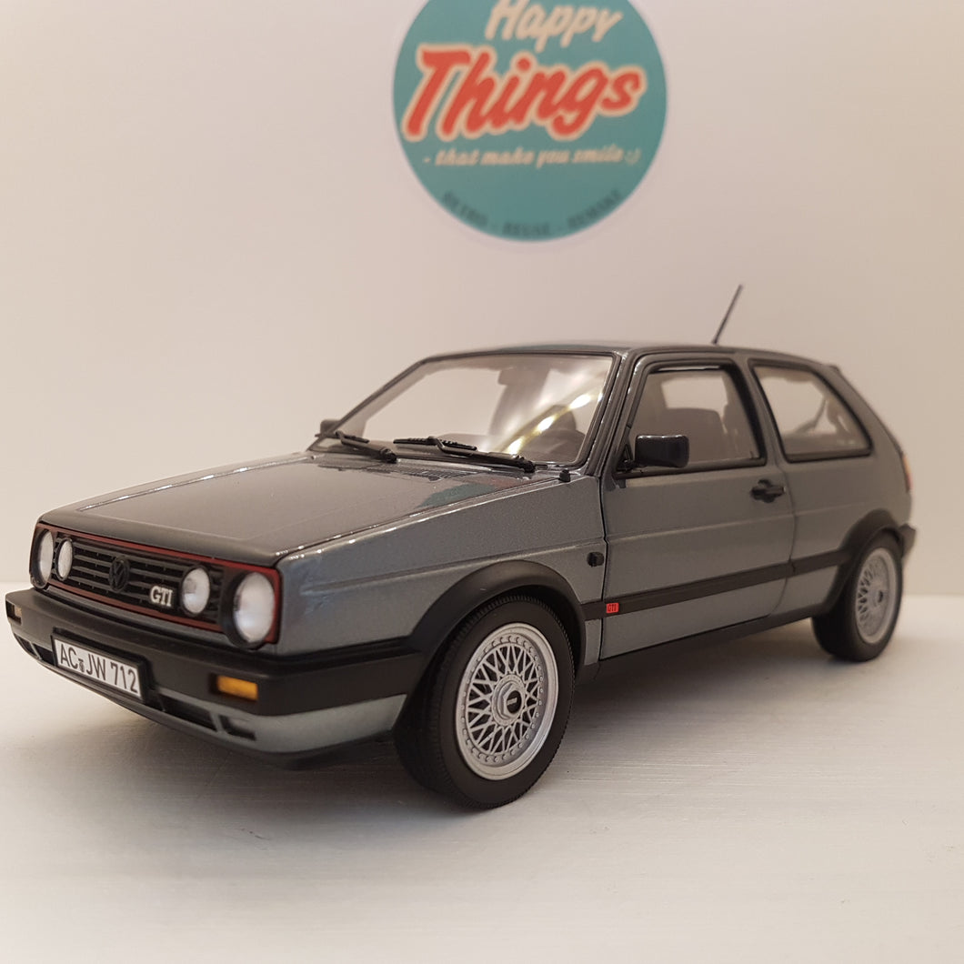 1:18 VW Golf GTI, Norev, 1990, koksgråmetal, åben model