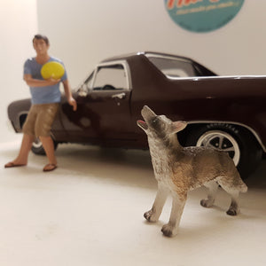 1:18 Mand med hund, American Diorama, limited