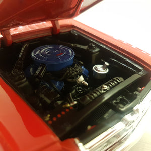 1:18 Ford Mustang cabriolet 1964 1/2, rød, Welly, åben model