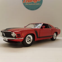 Indlæs billede til gallerivisning 1:24 Ford Mustang Boss 302, rød, Welly, delvis åben model
