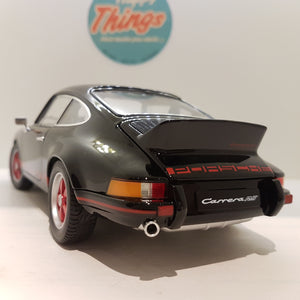 1:18 Porsche 911 Carrera RS, Welly, sort, åben model