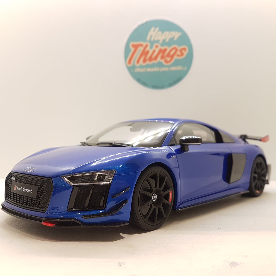 1:18 Audi R8 Performance Parts 2018, GT Spirit, GT254, blå, limited