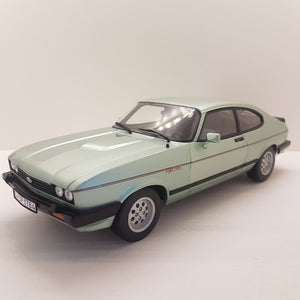 1:18 Ford England, Capri MKIII 2.8 Injection, grønmetallic, Norev, åben model