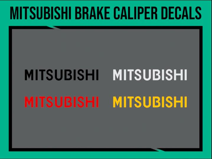 Mitsubishi Brake Caliper Decals, tuning