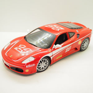 1:18 Ferrari F430 Challenge N14 racing, 2005, rød/hvid, Hot Wheels, åben model