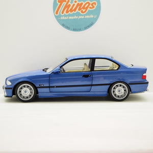 1:18 BMW M3 Coupé E36, blå, Solido, delvis åben model