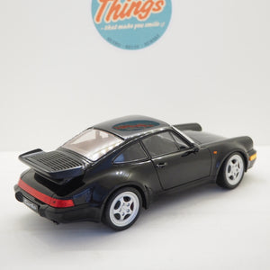 1:18 Porsche 911 964 Turbo, 1990, sort, Welly, åben model