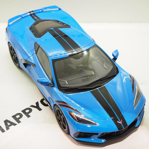 1:18 Chevrolet Corvette C8, blå, GT Spirit, GT286, limited, lukket model