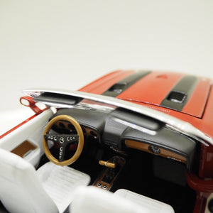 1:18 Shelby GT500 convertible, Hemmings muscle machines, 1970, Candy Apple Red, åben model