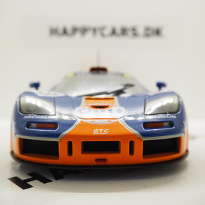 1:18 McLaren F1 GTR Short tail, 24h Le Mans 1996, Gulf Racing, Ray Bellm, James Weaver og JJ Lehto, Solido, 1804101, delvis åben model
