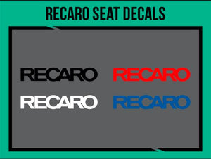 Recaro Seat Decal (Color: Blue, Size: 8mm), tuning