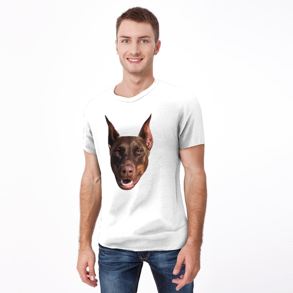 Custom My Face T-shirt Funny Dog Pet Tee