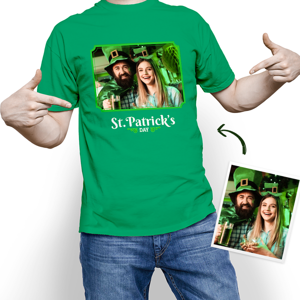 Custom My Face T-shirt St. Patrick's Day With Your Photo Tee