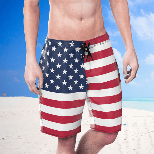 Men's Swim Trunks With United Kingdom Flag Pattern