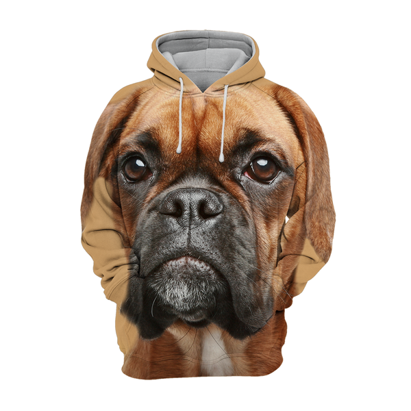 Unisex 3D Graphic Dog Hoodies - German Boxer