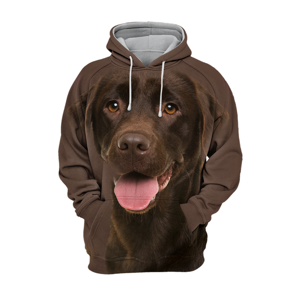 Unisex 3D Graphic Dog Hoodies - Chocolate Smile Labrador