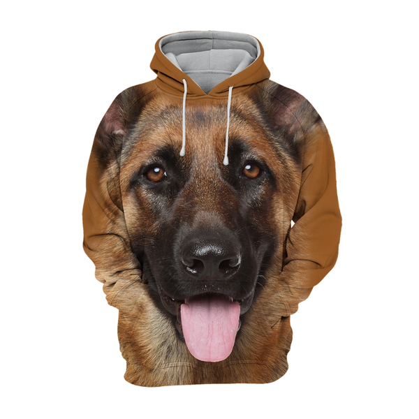 Unisex 3D Graphic Dog Hoodies - German Shepherd