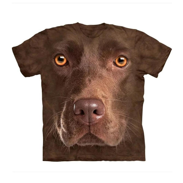 Unisex 3D Graphic Dog T-Shirt - Chocolate Labrador