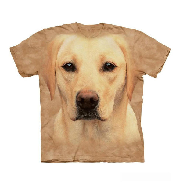 Unisex 3D Graphic Dog T-Shirt - Yellow Labrador