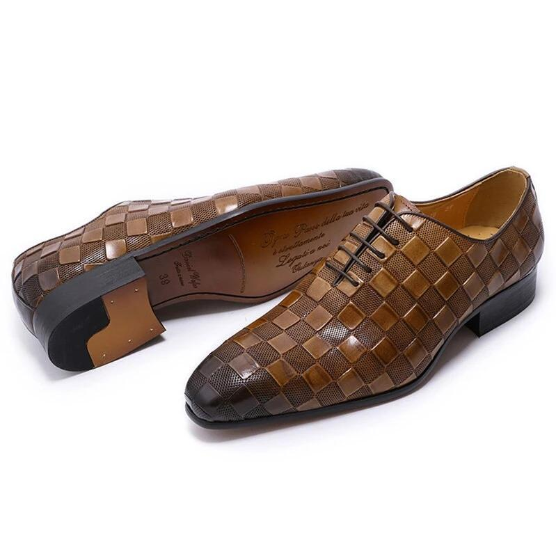 Black Handmade Italian Leather Dress Shoes//Oxford Office Shoes,Size 42 43