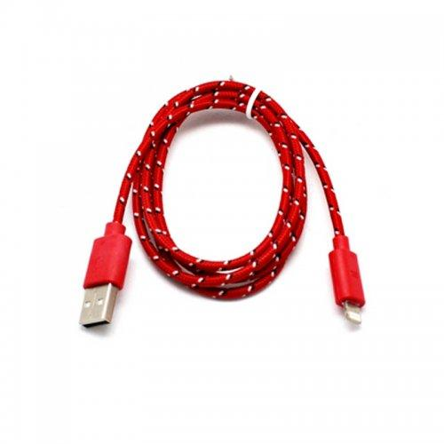 iPhone charging and data cable for 5,6,7,8,X in Red
