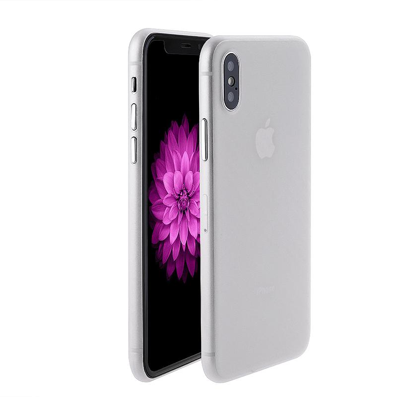 iPhone X phone case white with USB data cable