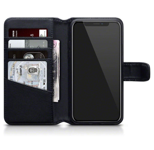iPhone X/XS Real Leather Wallet Case